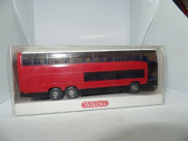 Wiking 715 02 37 1/87 HO Scale Mercedes 404 Double Deck Coach Reisbus OVP